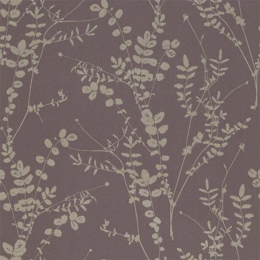 Salvia wallpaper from the Kallianthi Collection by Harlequin, in Zinc and Pewter