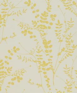 Salvia wallpaper from the Kallianthi Collection by Harlequin, in Putty and Citrine