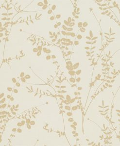 Salvia wallpaper from the Kallianthi Collection by Harlequin, in Putty and Honeycomb