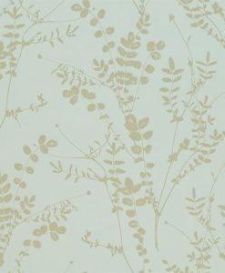 Salvia wallpaper from the Kallianthi Collection by Harlequin, in Duck Egg and Pewter