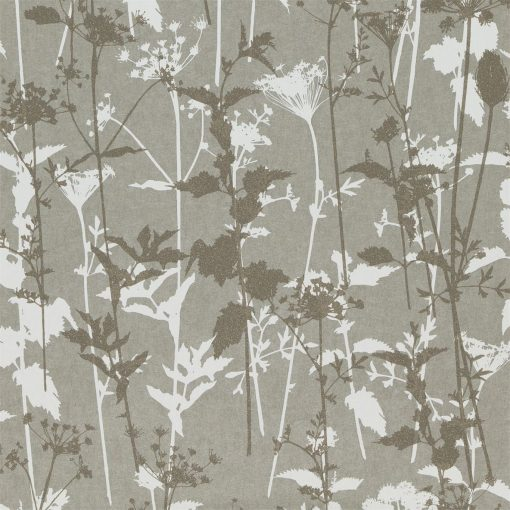 Nettles wallpaper from the Kallianthi Collection by Harlequin, in Steel, White and Pewter