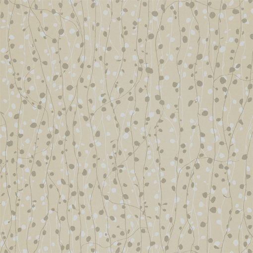Beads wallpaper from the Kallianthi Collection by Harlequin, in Natural, White and Pewter
