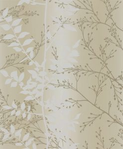 Persphone wallpaper from the Kallianthi Collection by Harlequin, in Honeycomb, White and Pewter
