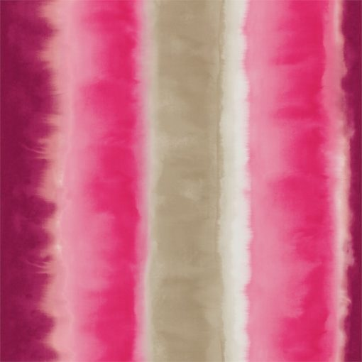 Demeter Stripe wallpaper from the Kallianthi Collection by Harlequin, in Fuchsia, Neon and Pebble