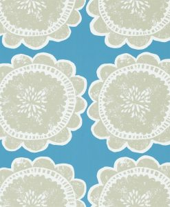 Lotta wallpaper by Scion in Cobalt/Putty