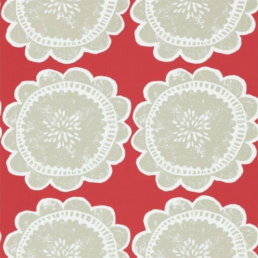 Lotta wallpaper by Scion in Poppy/Biscuit