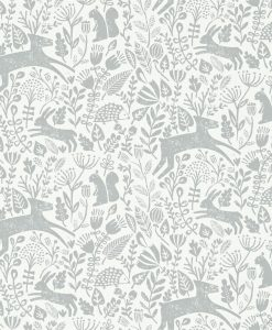 Kalda wallpaper from the Levande Collection by Scion in Pewter