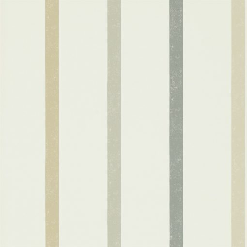 Hoppa Stripe wallpaper from the Levande Collection by Scion in Mink, Taupe and Charcoal