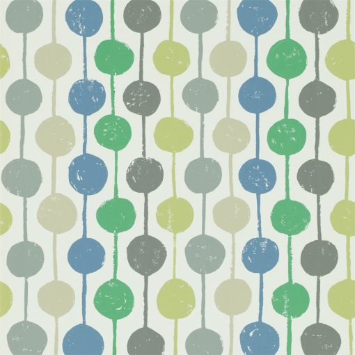 Taimi wallpaper from the Levande Collection by Scion in Apple, Ivy and Slate