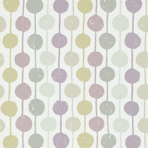 Taimi wallpaper from the Levande Collection by Scion in Mist, Heather and Pebble