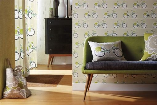 Cykel wallpaper from the Levande Collection by Scion