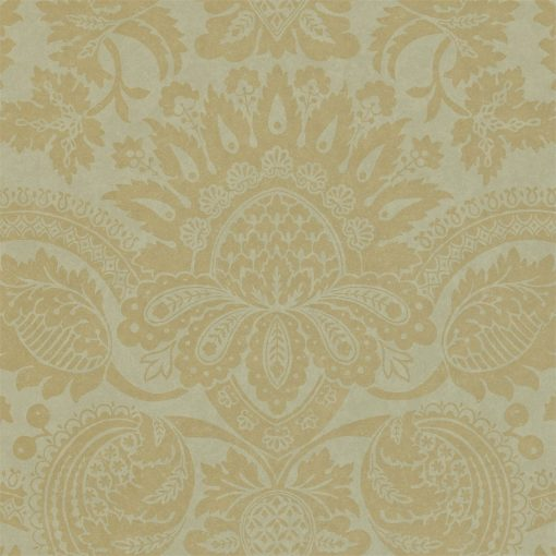 Pomegranate damask wallpaper in Silk Blue by Zophany