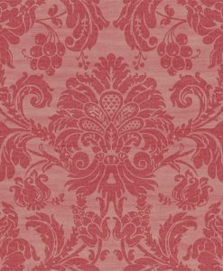 Crivelli damask wallpaper in Red by Zophany