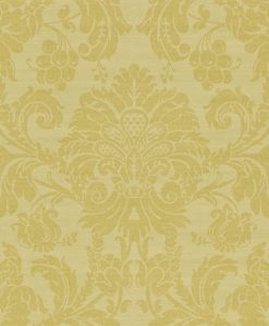 Crivelli damask wallpaper in Linden by Zophany