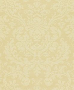 Tours damask wallpaper by Zophany in Calico