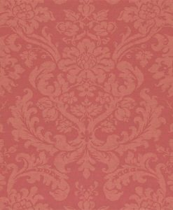 Tours damask wallpaper by Zophany in Red