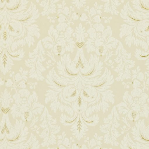 Alvescot damask wallpaper by Zophany in Cream