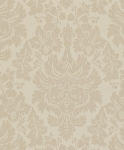 Alvescot damask wallpaper by Zophany in Taupe