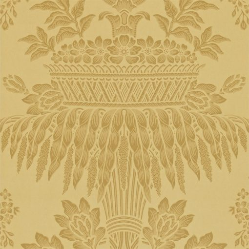 Long Gallery damask wallpaper by Zophany in Gold