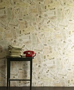 Skills to Pay the Bills - Ephemera Wallpaper - by Linwood Wallpaper