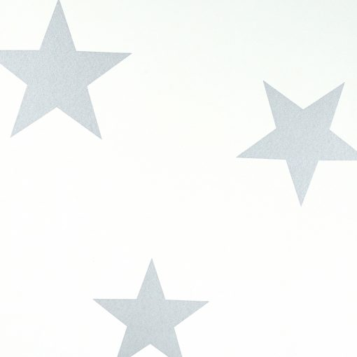 Hibou - Stars Wallpaper in silver