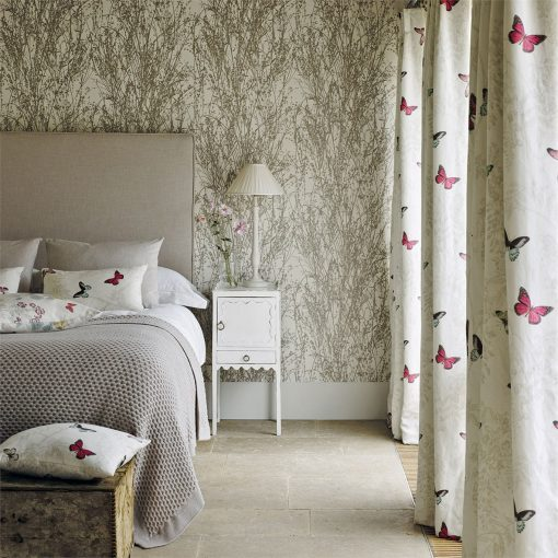 Meadow-Canvas wallpaper in the Woodland Walk collection from Sanderson