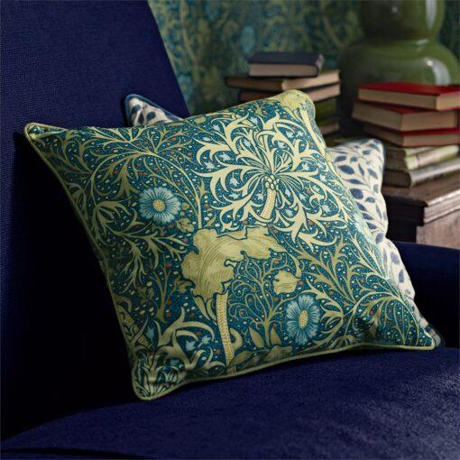 Morris Seaweed Cushion Detail