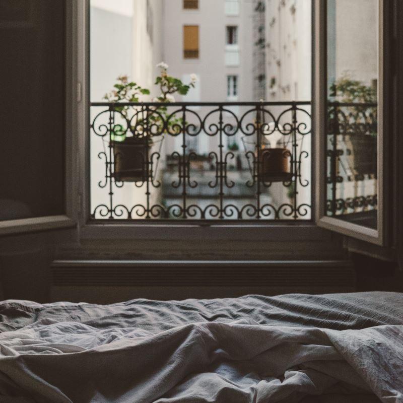 Parisian apartment - a view through the window