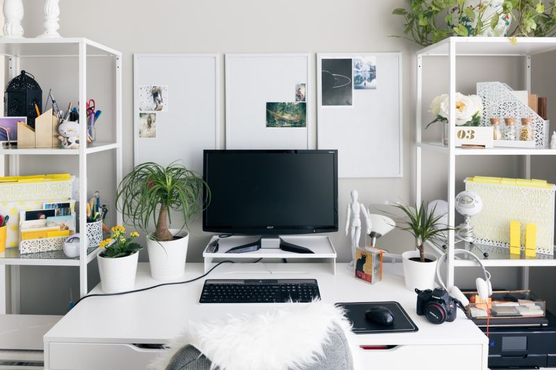 Lovely and fresh home office