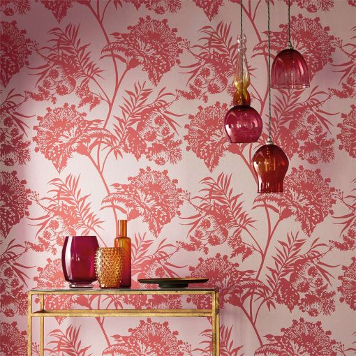 Bavero Wallpaper from the Zapara Collection by Harlequin Close up