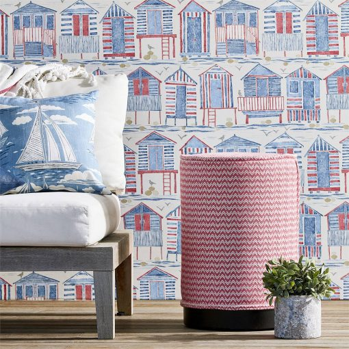 Beach Huts Wallpaper from Sanderson