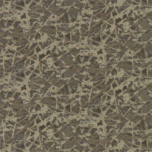 Shatter wallpaper from the Anthology 05 Collection in Gold and Zinc