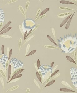 Cayo wallpaper in Mist and Linden