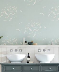 Larina Wallpaper from the Port Isaac Collection by Sanderson