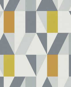 Nuevo wallpaper in Dandelion Charcoal and Brick