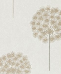 Amity wallpaper from the Paloma Collection in Linen and Chalk