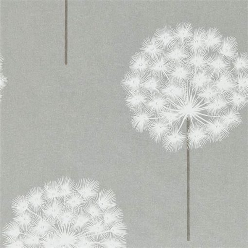 Amity wallpaper from the Paloma Collection in Silver and Chalk