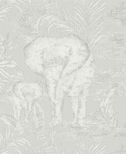 Kinabalu elephant wallpaper in Silver
