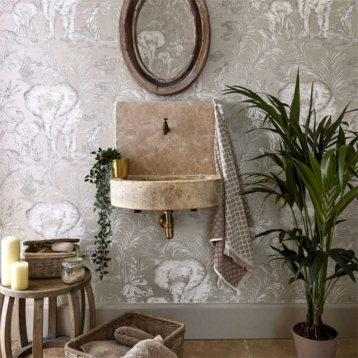 Kinabalu elephant wallpaper from the Zapara Collection