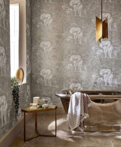 Kinabalu elephant wallpaper from the Zapara Collection by Harlequin
