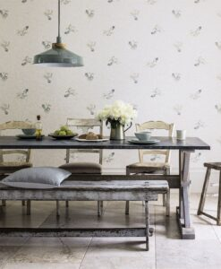 Fantail Wallpaper from Waterperry Wallpapers by Sanderson Home