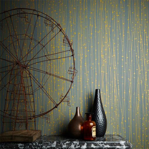 Kalamia Wallpaper from the Callista Collection by Harlequin Wallpaper