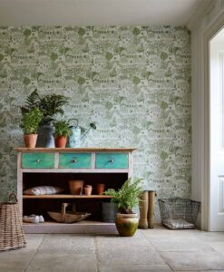 The Allotment Wallpaper from The Potting Room Collection by Harlequin