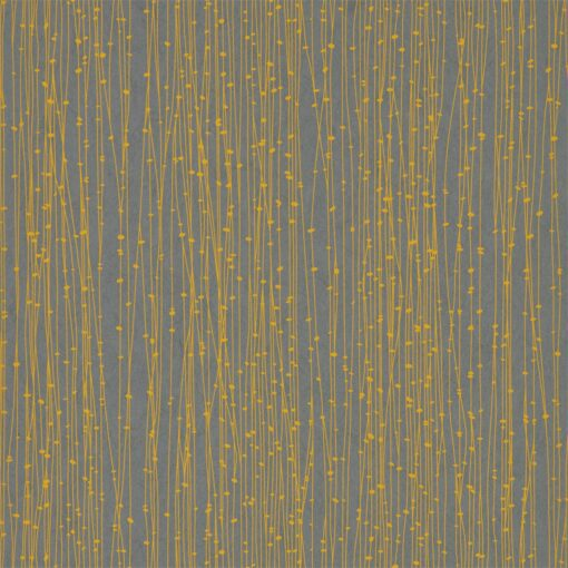 Kalamia Wallpaper from the Callista Collection by Harlequin Wallpaper in Mimosa & Graphite