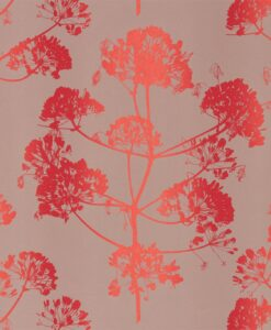 Angeliki Wallpaper from the Callista Collection by Harlequin Wallpaper in Fire & Vernell