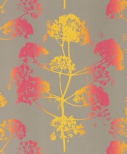 Angeliki Wallpaper from the Callista Collection by Harlequin Wallpaper in Tropical & Burnish