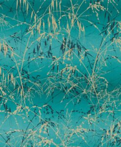 Meadow Grass Wallpaper from the Callista Collection by Harlequin Wallpaper in Ocean & Peacock