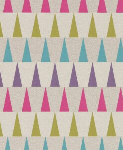 Azul Wallpaper from the Tresilio Collection by Harlequin in Fuchsia, Azure and Zest