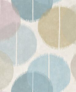 Circulo wallpaper from the Tresilio Collection by Harlequin in Sky and Smoke