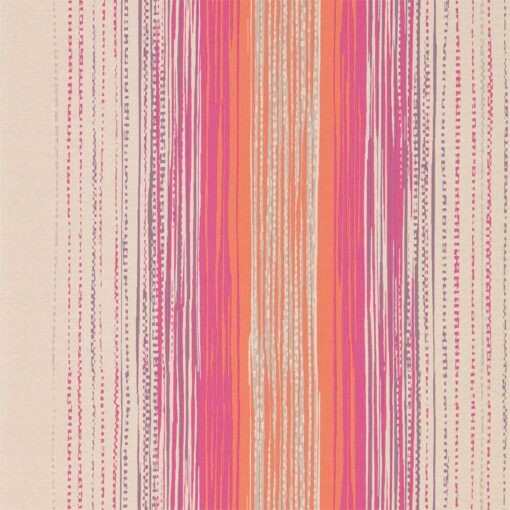 Tilapa wallpaper from the Tresilio collection by Harlequin in Fuchsia and Coral